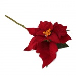Kunstblume Weihnachtsstern Pick in Rot, 27 cm