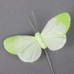 Schmetterling am Draht in Hellgrün, 75 mm
