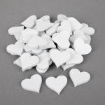 48 Holz Herzen Hochzeit in Weiß, 35 mm