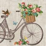 20er Pack Servietten Vintage Fahrrad, 33 x 33 cm