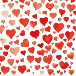 20er Pack Servietten Herzen in Rot, 33 x 33 cm