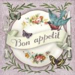 20er Pack Servietten -Bon appetit-, 33 x 33 cm