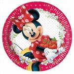 8 Teller Minnie mit Erdbeeren, 23 cm