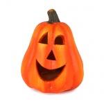 Keramik Halloween Kürbis Gesicht mit LED Beleuchtung Nr. 2, 80 mm