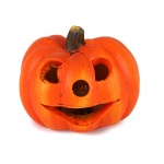 Keramik Halloween Kürbis Gesicht mit LED Beleuchtung Nr. 3, 60 mm