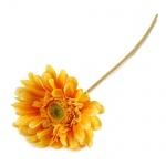 Kunstblume Gerbera in Gelb, 55 cm