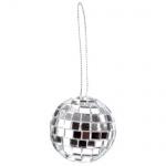 6 kleine Discokugeln, Spiegelkugeln in Silber, 30 mm