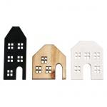 9 Holz Streuteile Weihnachten, Häuser Silhouetten, 31 - 50 mm