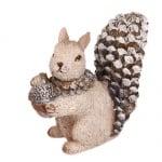 Eichhörnchen glitzernd mit Eichel, 80 mm