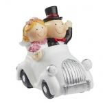 Deko Hochzeitspaar im Auto, 65 mm