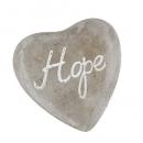 Beton Herz -Hope- in Grau/Weiß, 90 mm