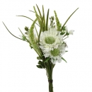 Kunstblume Frühlingssträußchen in Weiß/Grün, 32 cm