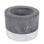 Beton Teelichthalter in Grau/Weiß, 50 mm