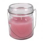 Kerzenglas Vintage mit Henkel in Rosa, 82 mm