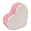 Keramik Herz stehend in Rosa, 80 mm