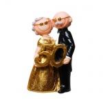 Jubiläumspaar Goldhochzeit -50- Jahre, 10 cm