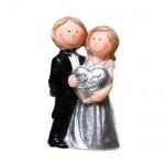 Jubiläumspaar Silberne Hochzeit, Herz -25- Jahre, 10 cm