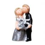 Jubiläumspaar Silberne Hochzeit, -25- Jahre, 10 cm