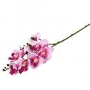 Kunstblume Kleiner Orchideenzweig in Pink, 24 cm