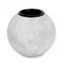 Teelichthalter Kugel in Beton-Optik, 80 mm