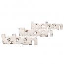 3tlg. Shabby Holz Aufsteller, Schriftzug Set -leben, lieben, lachen-, 31,5 - 40 cm