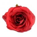 Kunstblume Rosenkopf in Rot, 90 mm