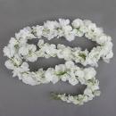 1,5 Meter Kunstblume Wisteria Girlande, Hochzeit, in Weiß
