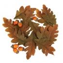 18 tlg. Herbst Streudeko Set Eichenlaub und Eicheln in Braun/Orange
