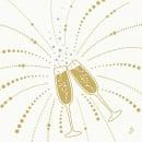 Duni Dunilin Servietten Festive Cheers White, 40 x 40 cm