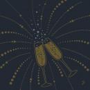 Duni Dunilin Servietten Festive Cheers Black, 40 x 40 cm