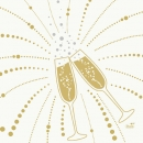 Duni Zelltuch Servietten Festive Cheers White, 33 x 33 cm