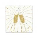 Duni Zelltuch Cocktail-Servietten Festive Cheers White, 24 x 24 cm