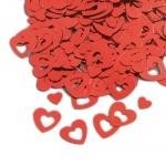 Konfetti Herzen in Rot, ca. 13+6 mm