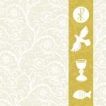 20er Pack Servietten christliche Symbole 33 x 33 cm