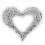 Draht Herz offen in Silber