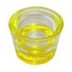 Kerzenhalter für Stabkerzen und Teelichter in Gelb