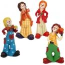 4 Clowns Fasching, Karneval bunt, 80 mm
