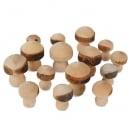 15 Streudeko Holz Pilze, 25 - 40 mm