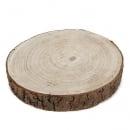 Deko Untersetzer, große Holzscheibe, dick, rund, 22 - 25 cm