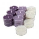 18 Duftteelichter Vanille-Lavendel, transparente Hülle, 4 h Brenndauer