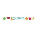3,6 Meter Partykette -Summer-, Tropische Früchte, glitzernd