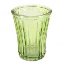 Glas Windlicht, Vase mit Streifen in Grün, 12,5 cm