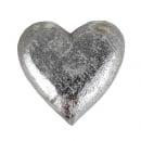 Holz Herz geschnitzt in Antik-Silber,  50 mm