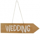 Holz Schild Hochzeit -Wedding- zum Aufhängen, 42 cm