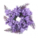 Kerzenring Lavendelblüten, 12 cm