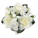 Kerzenring Rosen in Creme, 12 cm