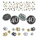 Konfetti Geburtstag, Funkelnde 40