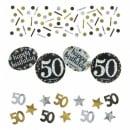 Konfetti Geburtstag, Funkelnde 50