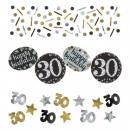 Konfetti Geburtstag, Funkelnde 30
