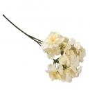 Kunstblume Hortensienblütenzweig in Vanille, 38 cm